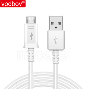 vodbov bulk wholesale V8 extension deta cable original 1m fast charging micro usb cable white for Samsung for Android