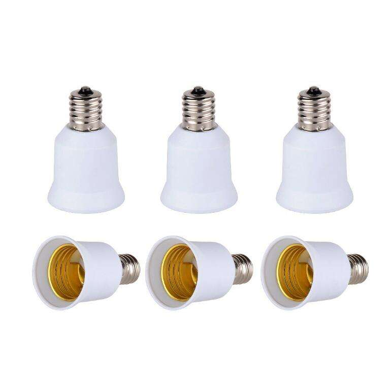 E17 TO E27 Conversion Lamp Holder Conerter E27 LED Bulb Socket