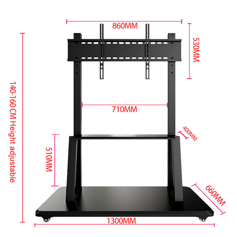 Usingwin LCD TV bracket 55-100 inch smart board interactive mobile cart display rack for whiteboard