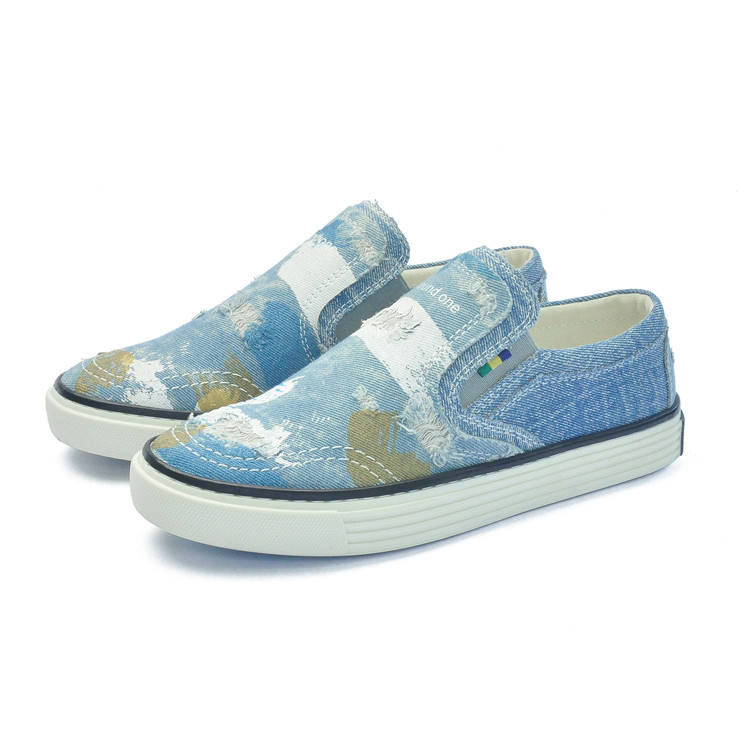 latest fashion china blue girl women canvas ladies casual shoes
