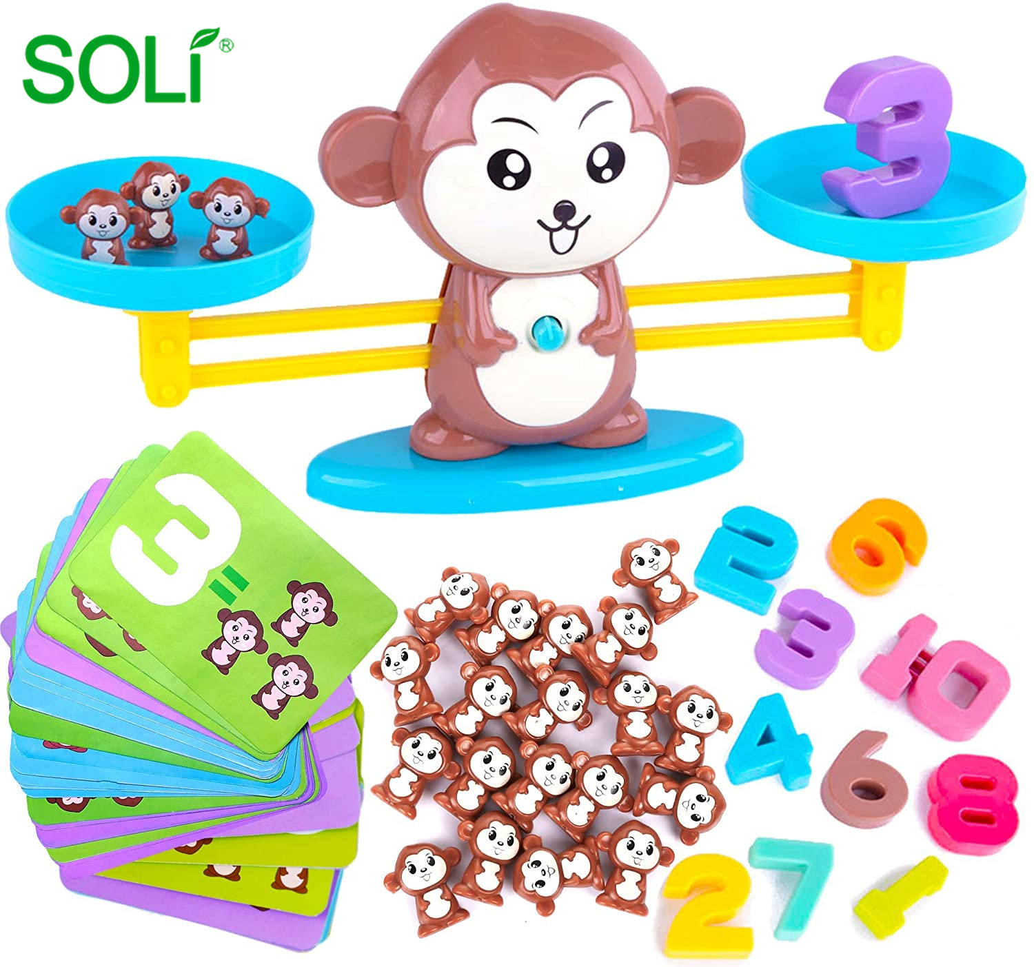 Wholesale Monkey Balance Cool Math Game for Kids Fun Educational Toys Number Addition and Subtraction Balance