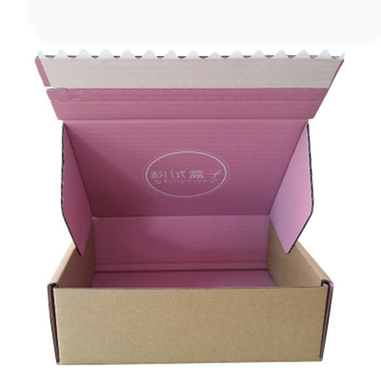 Full Color Printing A4 A5 tear off cardboard folding box corrugated postal box customized self sealing mailing box
