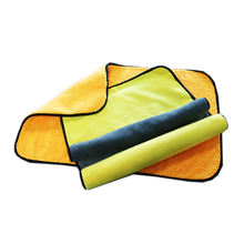 Germany Market Yellow 800gsm 100%microfiber Car Cleaning Towel Microfibre With Customized Color/Size/Packing