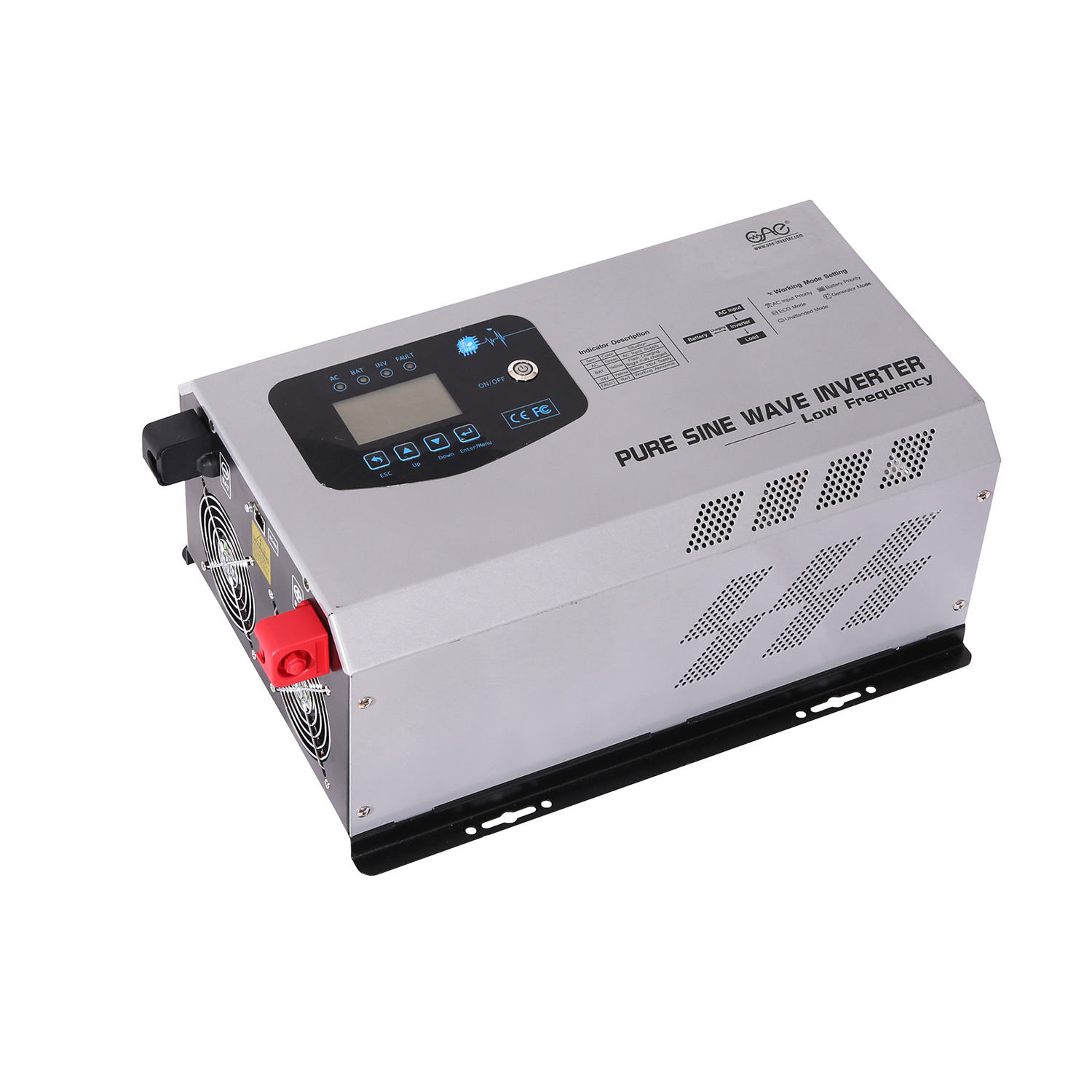 1kw 2kw 3kw 4Kw 5kw 10kw Off Grid Solar Power Inverter Dc 24V 48V to Ac 110v 220V low Frequency Inverter