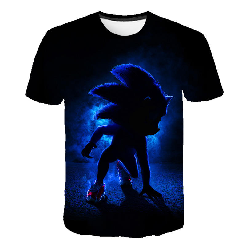 Boys Mario Supersonic Sonic Print Clothes Girls 3D Funny T-shirts Costume Children Clothing Kids Tees Baby Tshirts