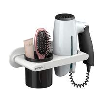 Luxury Multi-function Bathroom Hair Dryer Holder Wall Mounted Rack Space Aluminum Shelf Storage Organizer Hairdryer Holder