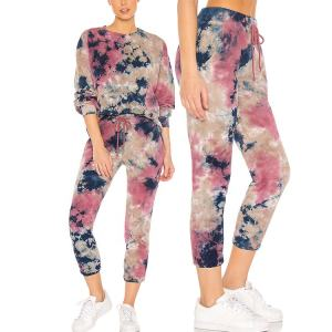 New trendy comfortable casual tie dye sweatpants for women track pants high quality clothing