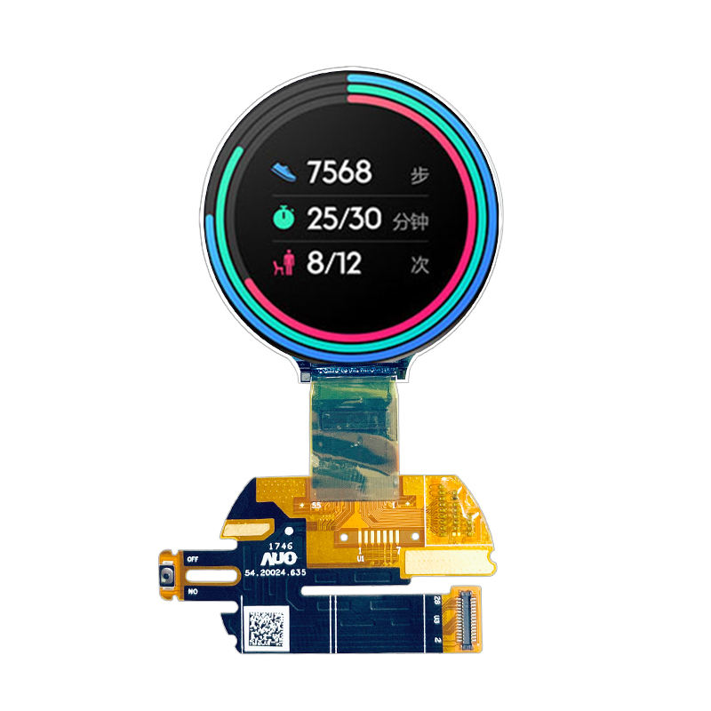 1.39 Inch Amoled Kleur Monitor 28 Pin 400*400 Resolutie Rgb Oled Amoled Scherm Driver Ic RM67160 Met mipi Interface