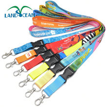 Customised Dye Sublimation Polyester Keychain Lanyard Wholesale