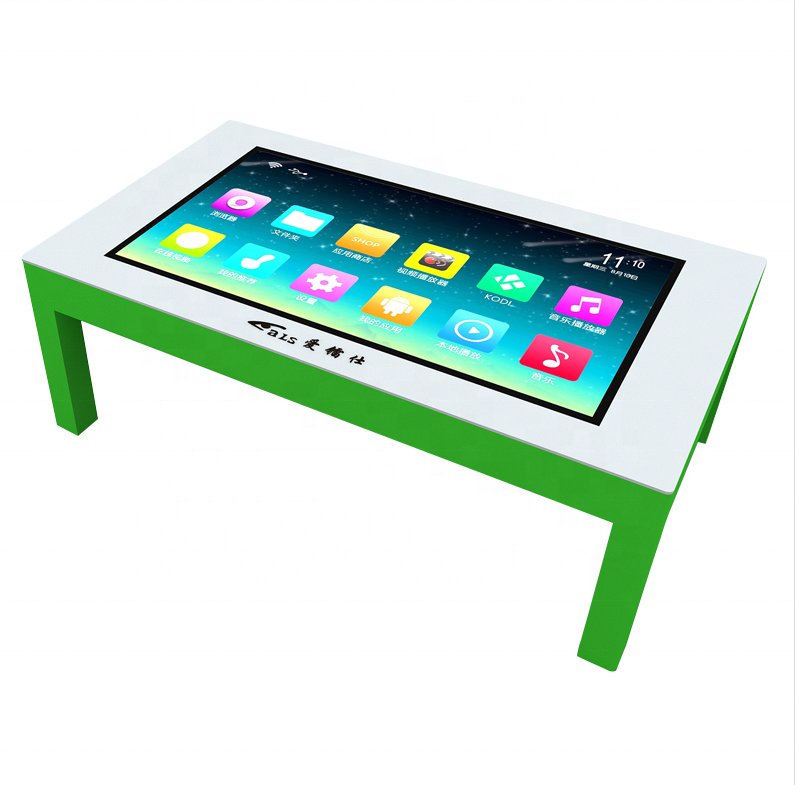 Smart Advertising Players touch table with lcd kiosk display touchscreen for living room home conference