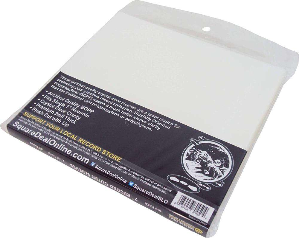 100count 12'' cd storage bag lp vinyl records inner record cd dvd plastic sleeve