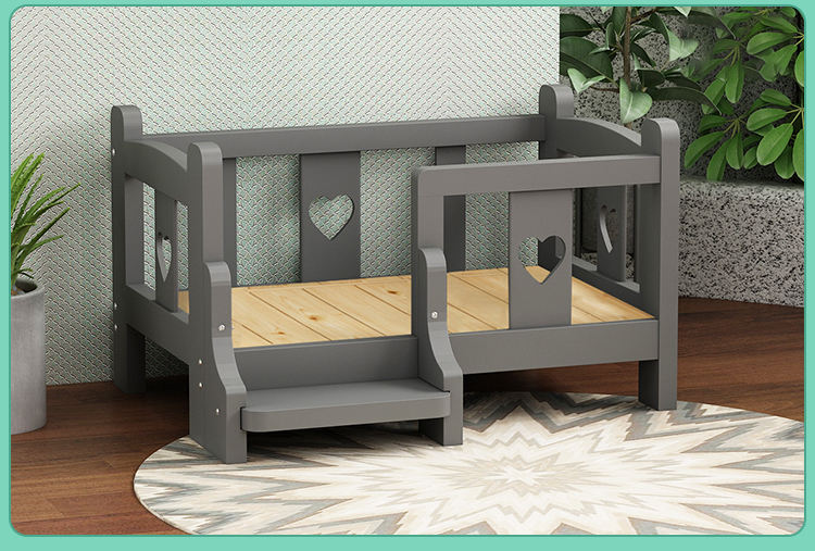 Baby Bed For Dogs Customized Eco-friendly Wooden Pet Dog Cat Bed Role Playing Toys Baby Bed For Dolls