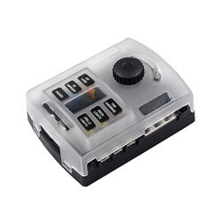 6 Way Fuse Block Box with Thumbscrew and LED Indicator, Nega