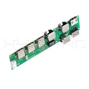 7 port tastatur 3 ports usb 2.0 hub pcb mit ethernet interface