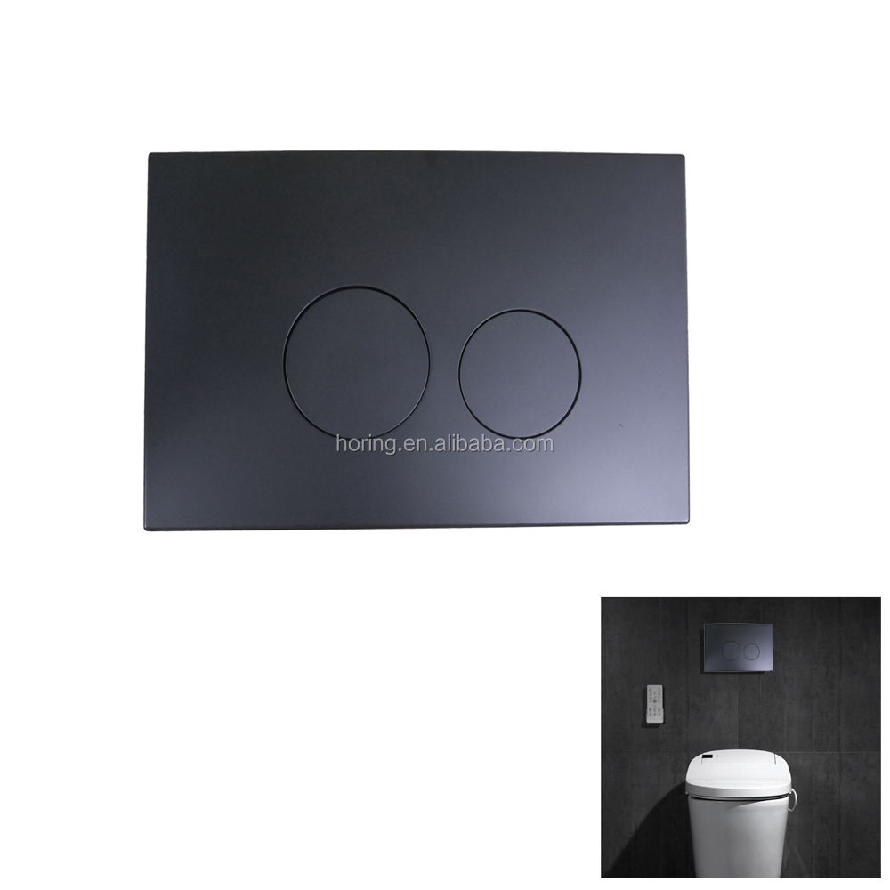 WC Pan Dule Flush Valve Black Toilet Cistern Flush Plate