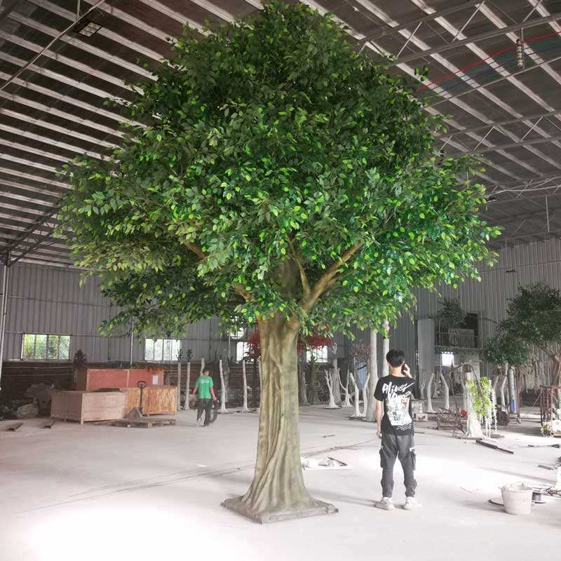 Wholesale Fiberglass Artificial Trees Large Artificial Banyan Tree For Sell Decoration