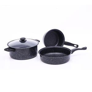 Custom Professional Manufacture Cast Iron Nonstick Pots Cookware Sets Cooking