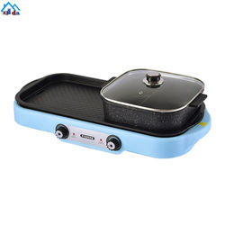 indoor ANDONG auto smokeless bbq steak grill 2 in 1 hotpot s