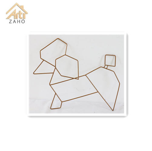 Artes criativas a forma cão abstrato animal metal wall deco