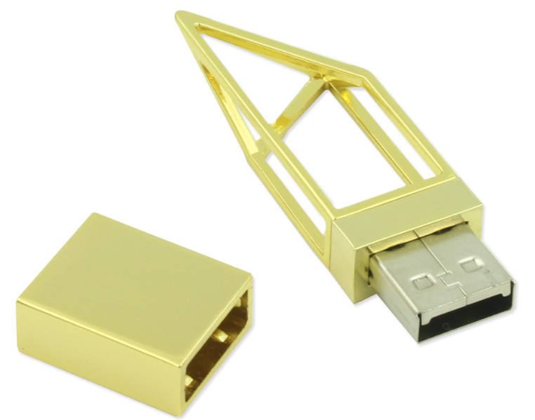 Luxury Gold Metal USB Drive 8GB 16GB with High Speed