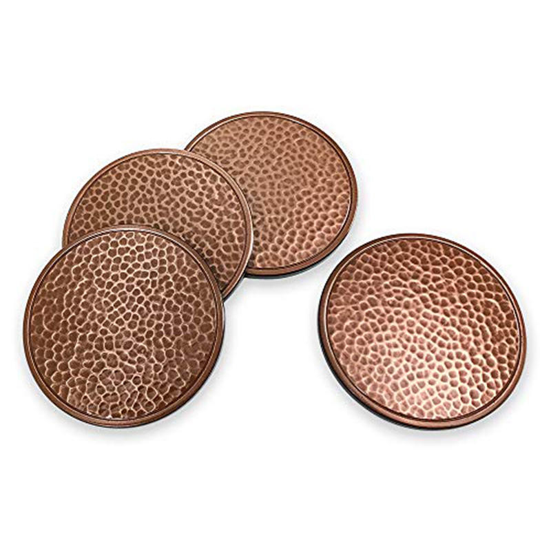 Eco-Friendly Cheap Metal/Brass Custom Round Antique Coasters Cup Mats for Sale