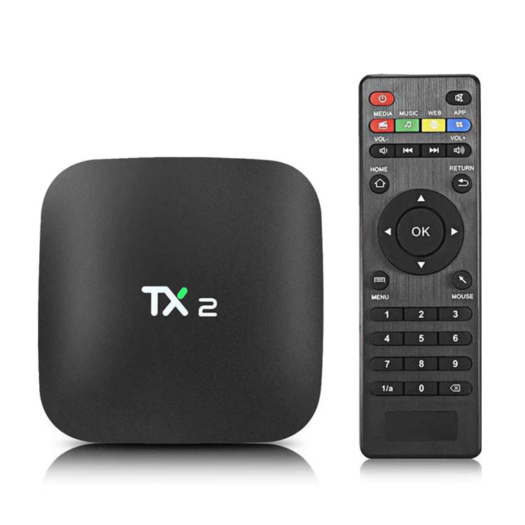 Fábrica Rockchip RK3229 Quad-core 2GB + 16GB caja de tv Android inteligente TX2 R2 Android 6,0 HD caja de TV 2,4G Wifi BT2.1 streaming tv 1 comprar