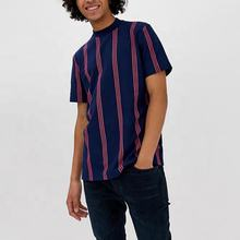 New Casual Fashion T-shirts Short Sleeve Striped T Shirts Custom Men T Shirt