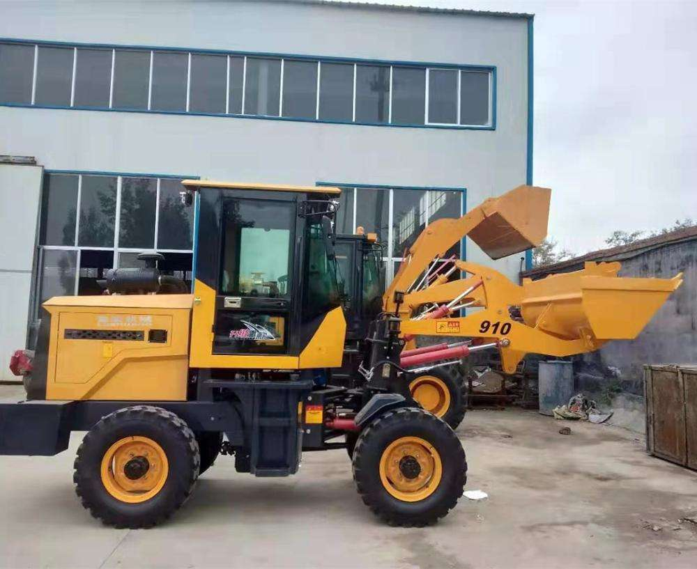 2 ton payload HT910 front end new hydraulic articulated small mini wheel loader price