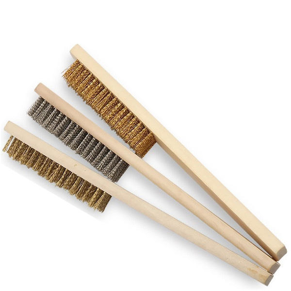 205*25mm Wooden Handle Steel or Brass Wire Brush with High Quality