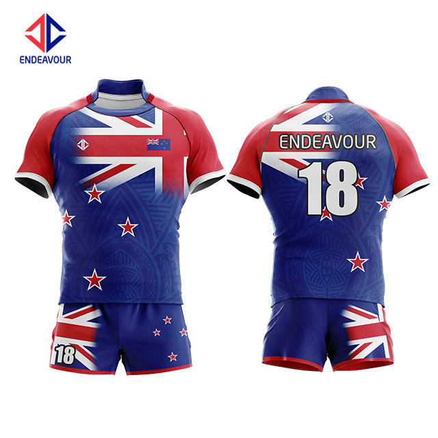 Wholesale custom oem sublimation new zealand rugby league jersey uniform for sale