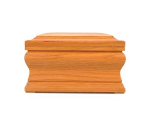 OSA008 Funeral Supplies Wholesale Solid Oak Wood Human Cremation Urns