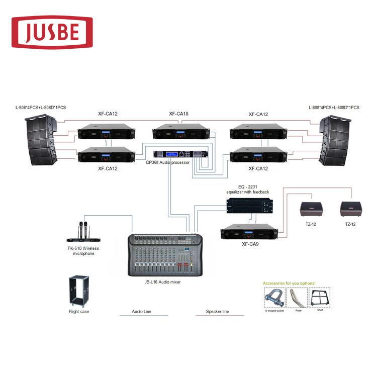 "L-808 A completely full set system professional audio outdoor live concert stage sound line array speaker 8"""