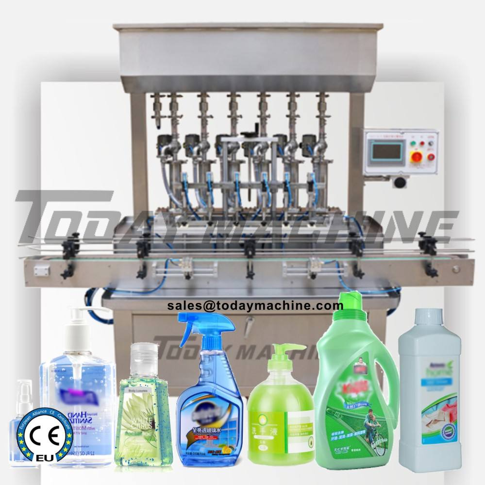 CBD Automatic Paste Sauce Jar Bottle Piston Filling Bottling Capping Machine for Small Scale