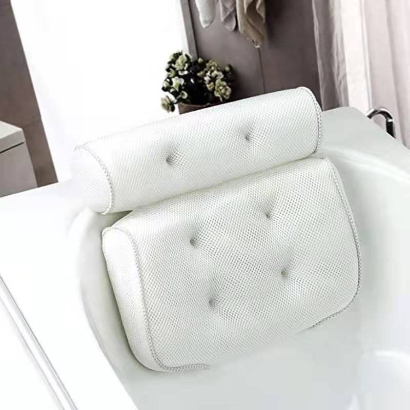 2020 New 3D Mesh Bath Tub Cushion Spa Cushion With Suction Cups Comfortable Bath Tub Pillow