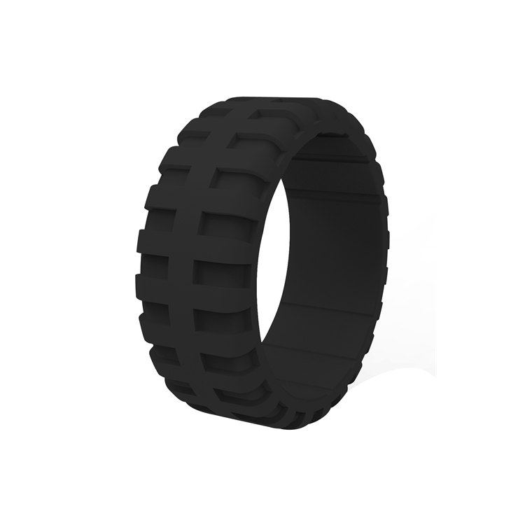 Amazon Best sell Silicone wedding ring fitness soft rubber finger ring Comfortable tyre shape o ring design