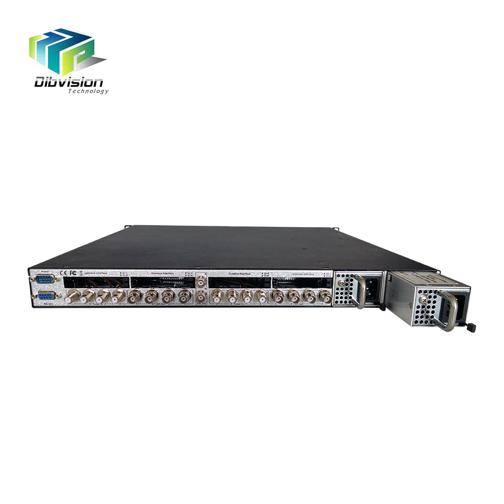 high quality 8*DVB-S2/S/DVB-C /DTMB/ATSC satellite to iptv gateway DVB-T2 Multi PLP