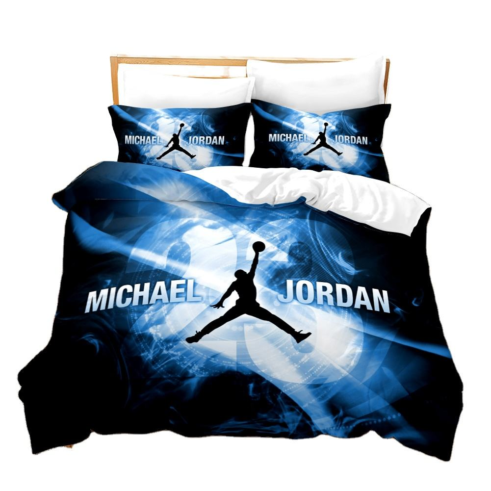 Hot sell bed cover sheet NBA 2 luxury bedding sets bed sheet best price duvet cover for double bed