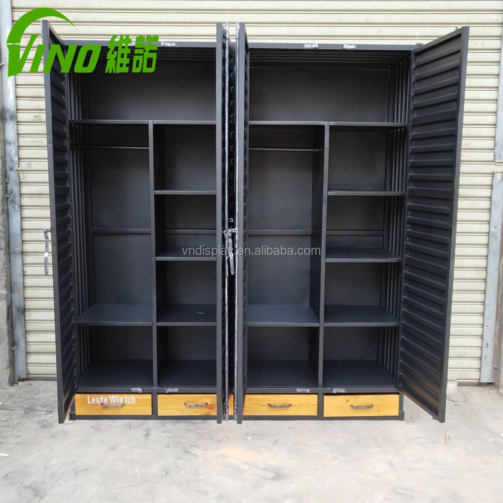 Custom Design Shoe rack for store display, shoe display rack, metal flooring cabinet for retail store Industrial style