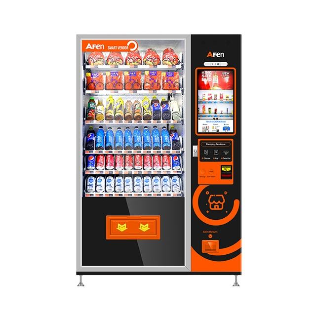 AFEN automatic advertise usim black chilled drink vending machine