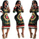 MD62426 Summer New Design Sexy Print O neck Ladies Dress Long Sleeve Women Straight Long Party Bodycon Dresses for Woman