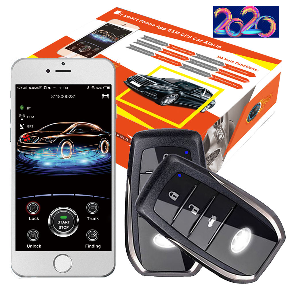Cardot 2020 Smart Phone Control Two Way Remote Start Stop Engine Push Button Gps Tracking Device Remote Starter
