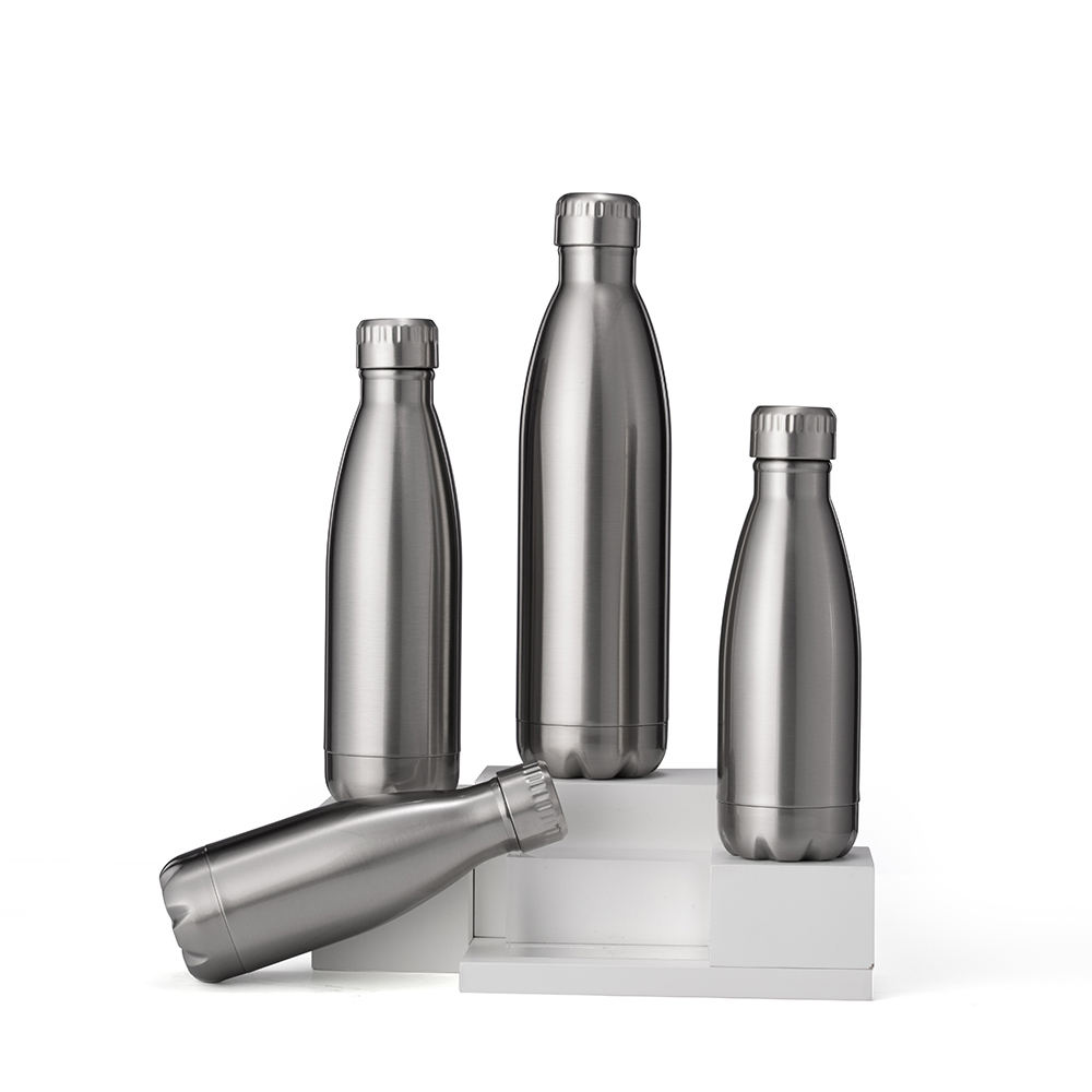 2020 New Arrivals Lingqi 500Ml SS Cola Bottle Flask Stainless Steel Cola Water Bottle Sport