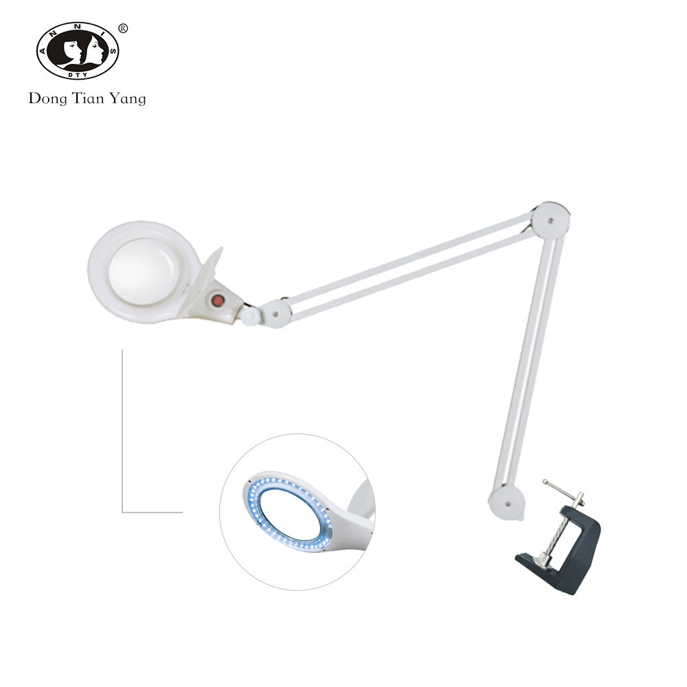DTY professional salon beauty led magnifying glass table lamp clip equipment