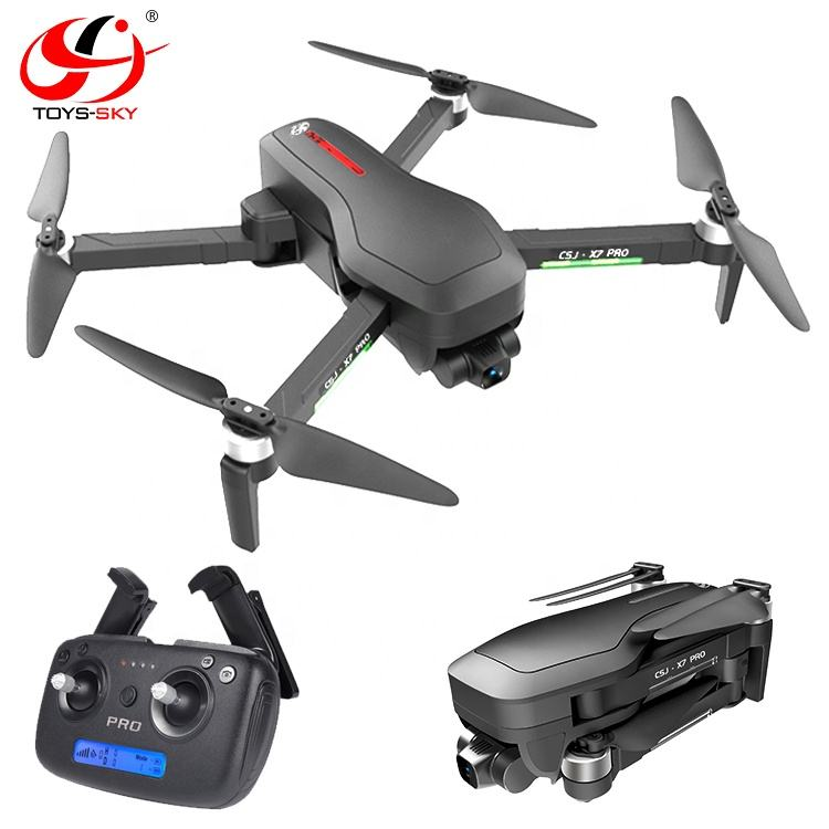 X7PRO2 Follow 5G WIFI FPV Brushless Selfie Foldable Optical flow 4K Ultra HD RC Drones with hd camera and gps 3 Axis gimbal
