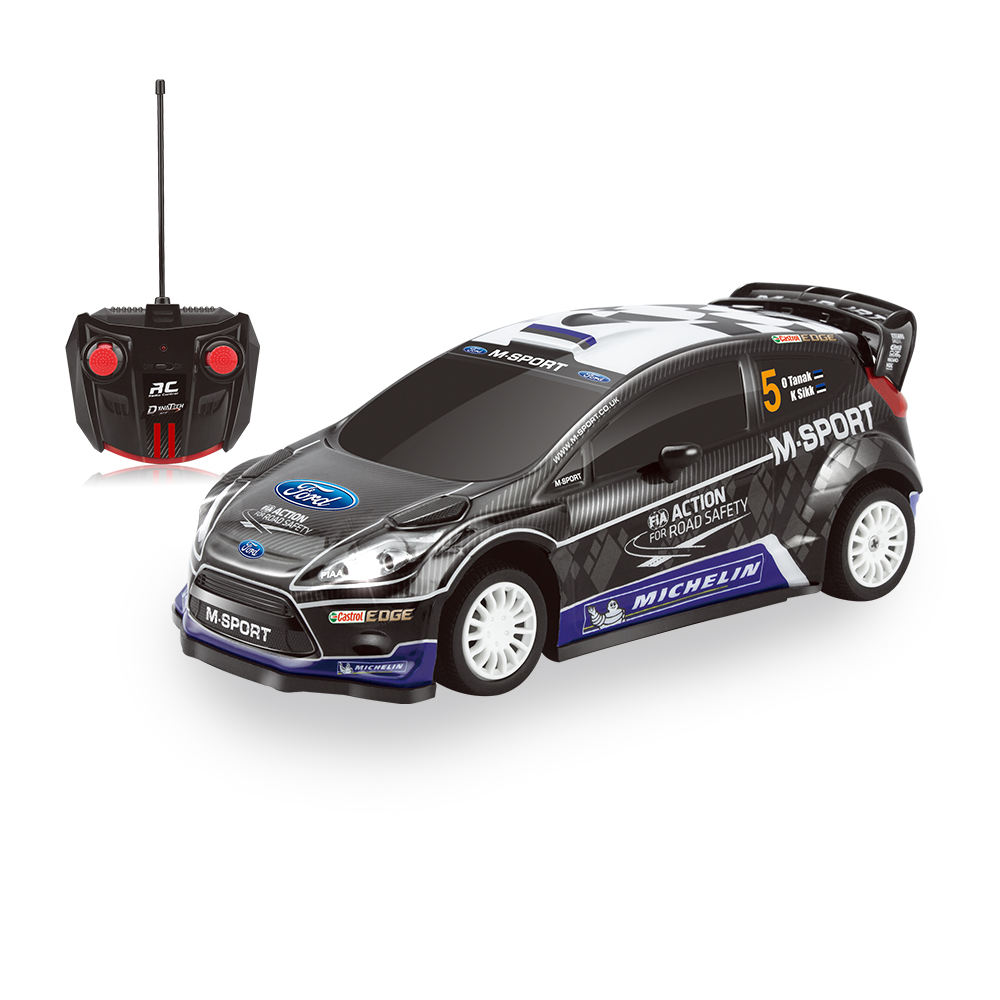 2.4G Escala 1:16 Modelo Do Veículo Todo O Terreno 4CH RC Racing Car PVC M-SPORT FORD FIESTA RS WRC - RC deriva Do Carro para As Crianças