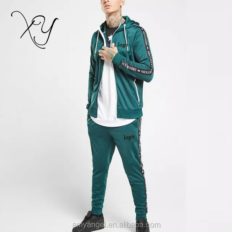 Poly Nylon Withe Green Red Blue Slim Sweater Suit Cut And Sew Tracksuit Soccer Custom Men s Tracksuit For Morocco Algeria turkey