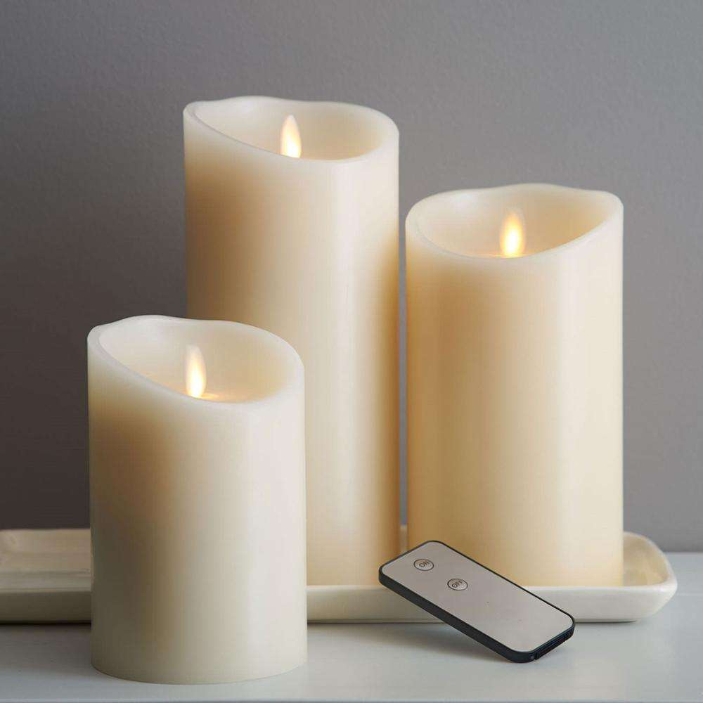Set of 3 dancing flame battery operated flickering flameless led candles