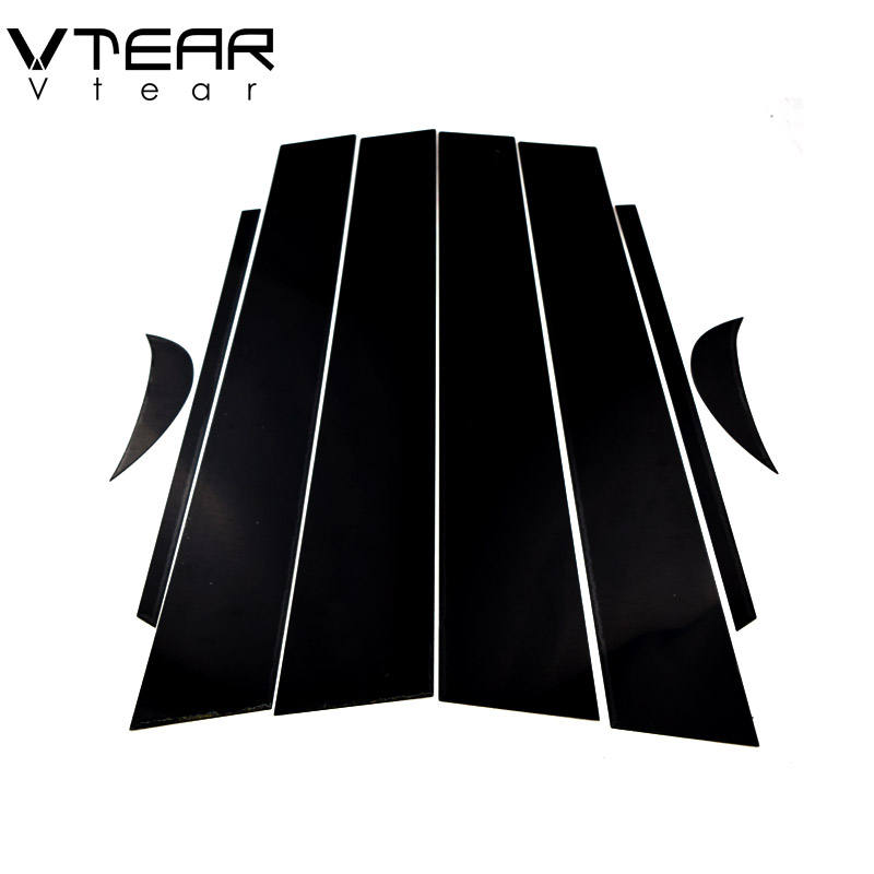 Vtear For Toyota Camry 2018 accessories car window B C pillar sticker trim black mirror reflection panel Exterior anti scratch