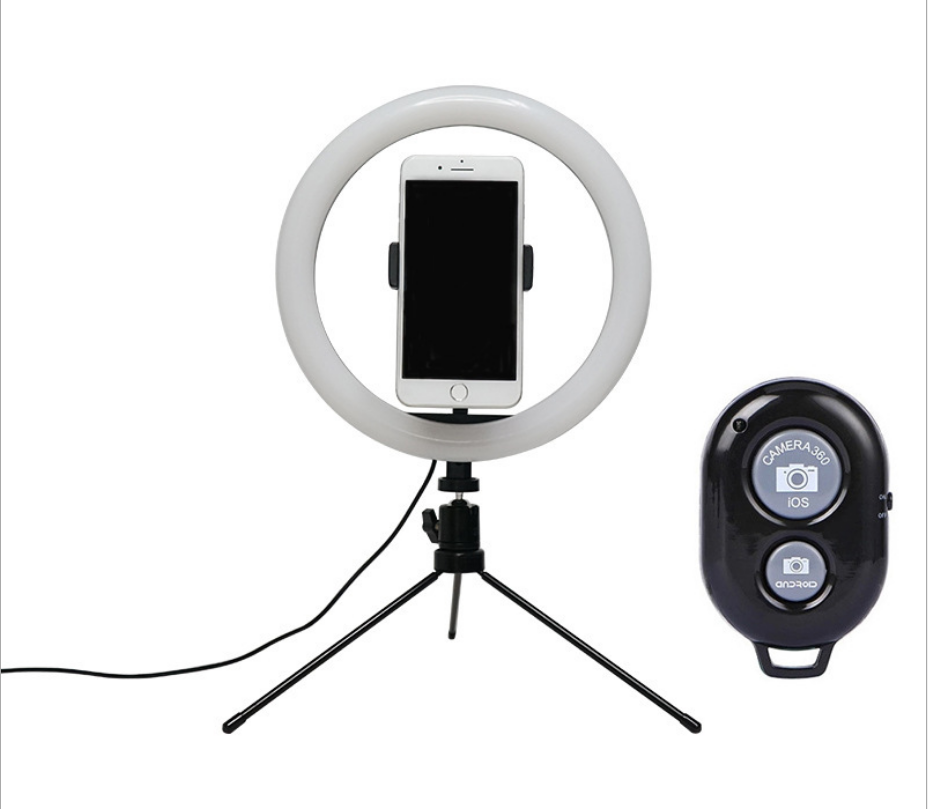 "Amazon Hot Selling 10 Inch Desk Beauty Selfie Ring Light Tiktok 10"" LED Ring Light With Tripod Stand Cell Phone Holder"