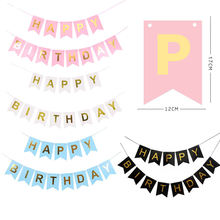 Birthday Decoration New Paper flag paper Bunting Banners Flags Happy Birthday Banner Kid Birthday Party Supplies